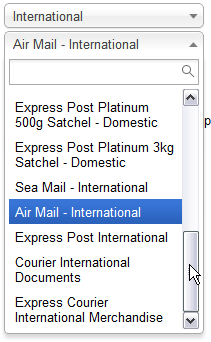 auspost shipping virtuemart 2.0 International