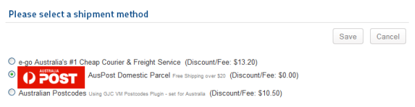auspost shipping_virtuemart-free-select