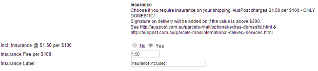 auspost-virtuemart-insurance admin